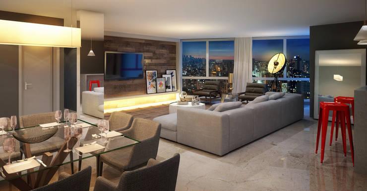 M355,  Edificio de Lofts duplex – Porto Alegre / Brasil: Salas de estar  por hola,