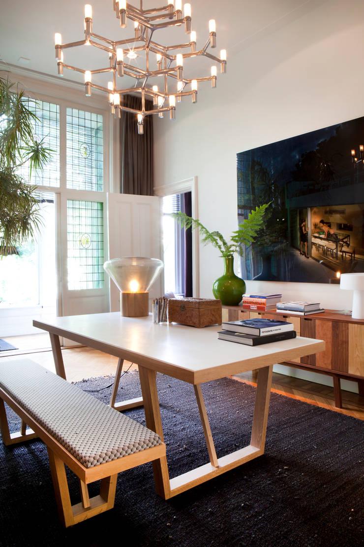 Familiehuis, Amsterdam Zuid:  Studeerkamer/kantoor door Binnenvorm, Eclectisch