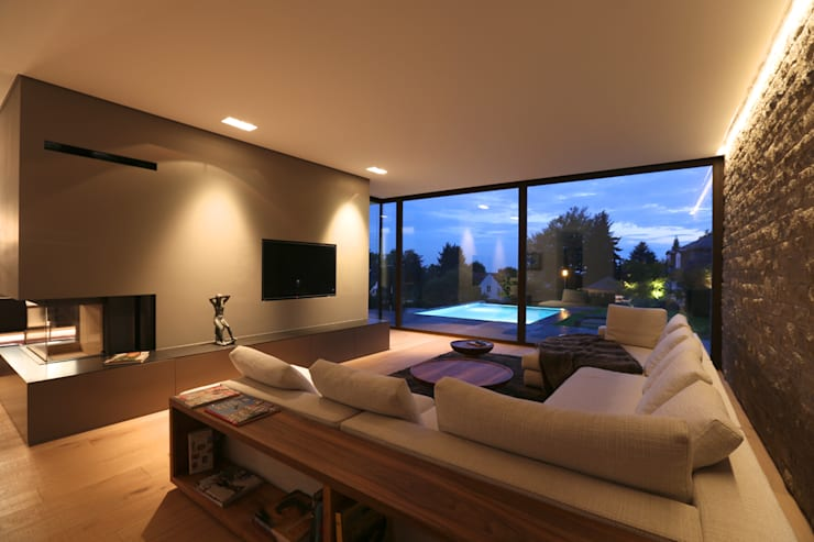 Projekty,  Salon zaprojektowane przez DG/D Architekten