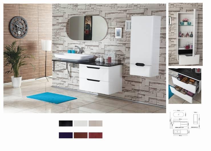 BADELLA BANYO – Blanco 160 V1: modern tarz Banyo