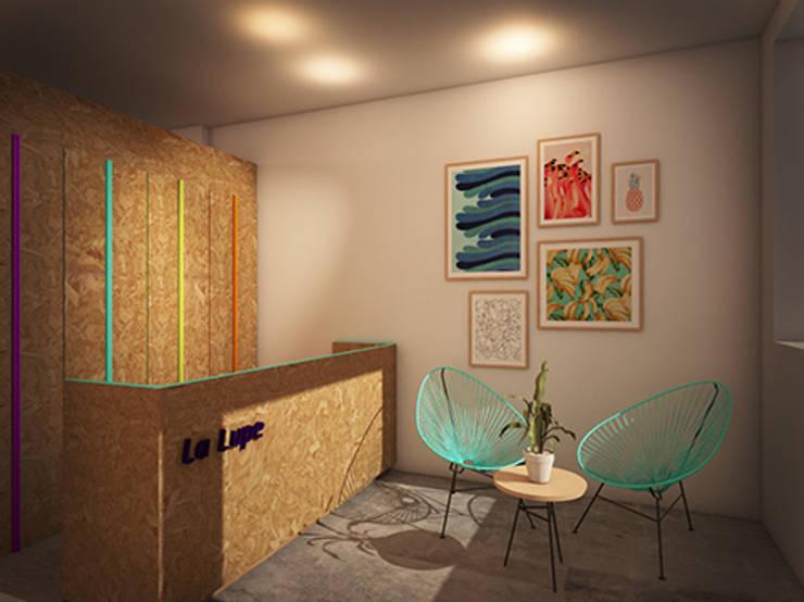 LA LUPE 3: Espacios comerciales de estilo  de lapeineta interiorismo