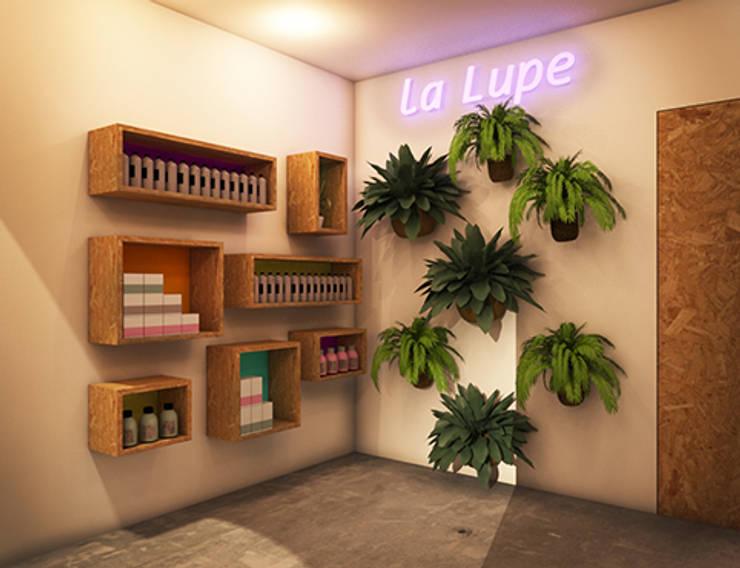LA LUPE 4: Espacios comerciales de estilo  de lapeineta interiorismo