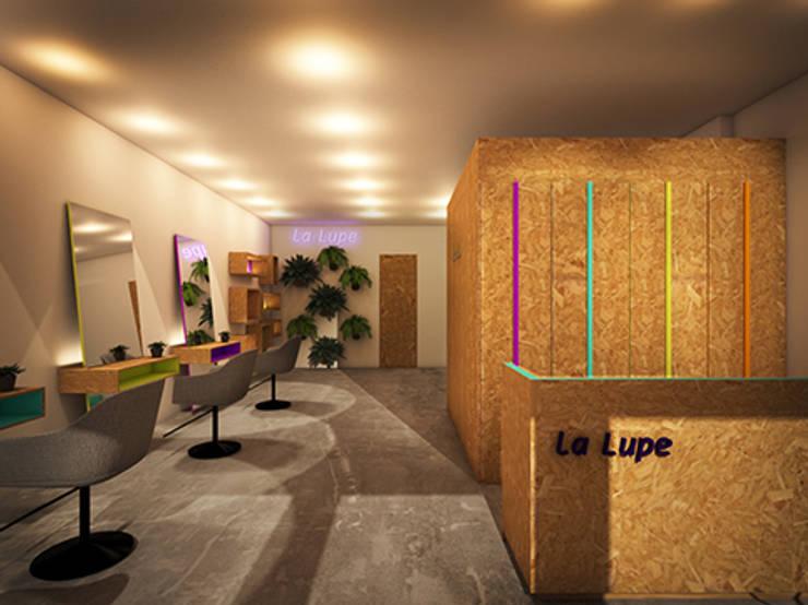 LA LUPE 1: Espacios comerciales de estilo  de lapeineta interiorismo