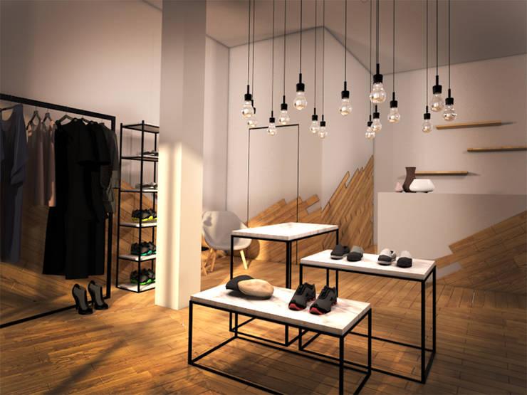 OAK ROOM 1: Espacios comerciales de estilo  de lapeineta interiorismo