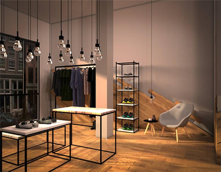OAK ROOM 1I: Espacios comerciales de estilo  de lapeineta interiorismo