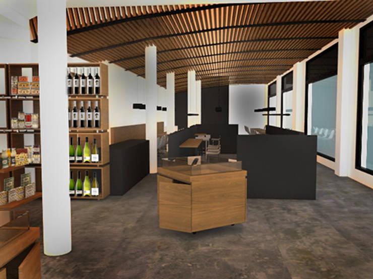 GIRÓ II: Locales gastronómicos de estilo  de lapeineta interiorismo