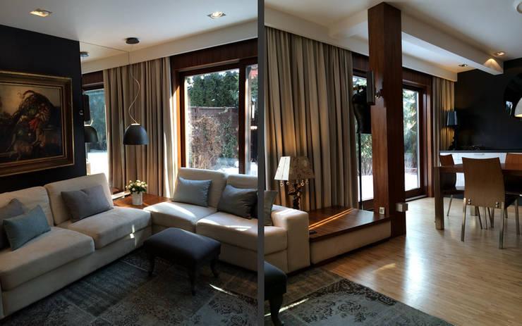 salon: styl , w kategorii Salon zaprojektowany przez 7 razy ładniej