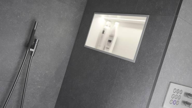Groots douchen – Sneek:  Badkamer door Studio Doccia
