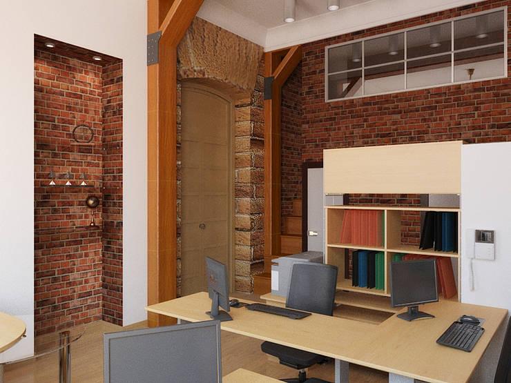 Office buildings by Дизайн студия Александра Скирды ВЕРСАЛЬПРОЕКТ,