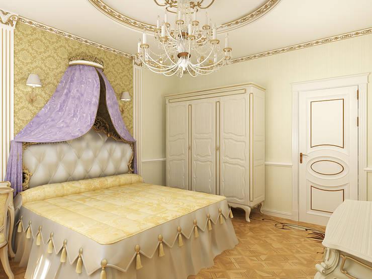 Неоклассика: Спальни в . Автор – Дизайн студия Александра Скирды ВЕРСАЛЬПРОЕКТ, Классический