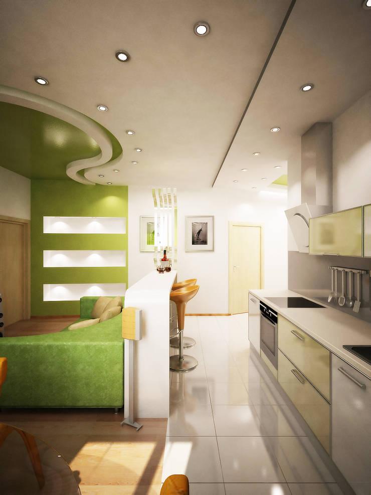 Любимый цвет: Кухни в . Автор – Дизайн студия Александра Скирды ВЕРСАЛЬПРОЕКТ