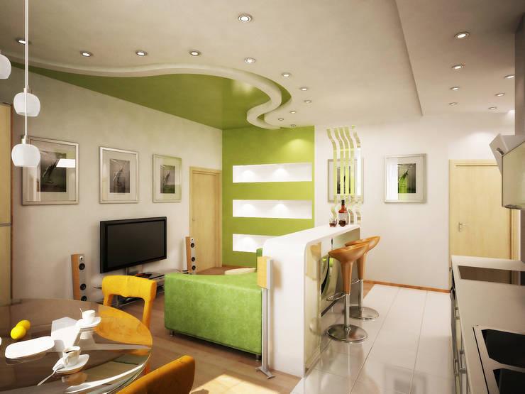 Любимый цвет: Столовые комнаты в . Автор – Дизайн студия Александра Скирды ВЕРСАЛЬПРОЕКТ