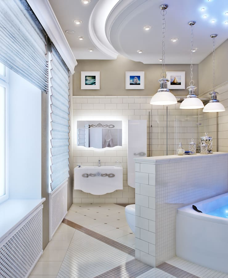 Bathroom by EJ Studio, Classic