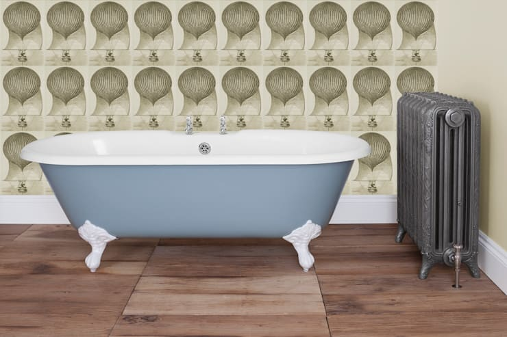 Ashby Double Ended Roll Top Cast Iron Bath : classic Bathroom by UK Architectural Antiques