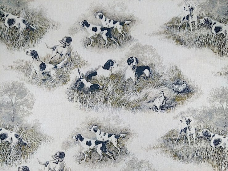 Hounds Linen Cotton Tapestry Fabric:  Windows & doors  by The Millshop Online