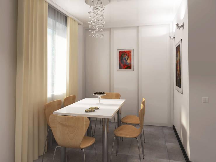 Переработка квартиры 1962 года: Столовые комнаты в . Автор – Дизайн студия Александра Скирды ВЕРСАЛЬПРОЕКТ