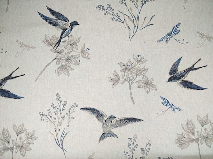 Swallows Tapestry Royal Blue:  Windows & doors  by The Millshop Online