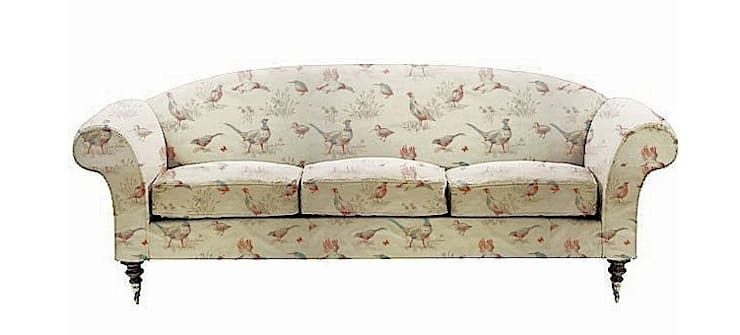 Pheasants Tapestry Fabric On Sofa:  Living room by The Millshop Online