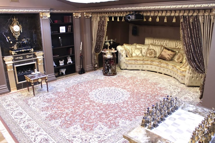 Античная эклектика: Медиа комнаты в . Автор – blackcat design,