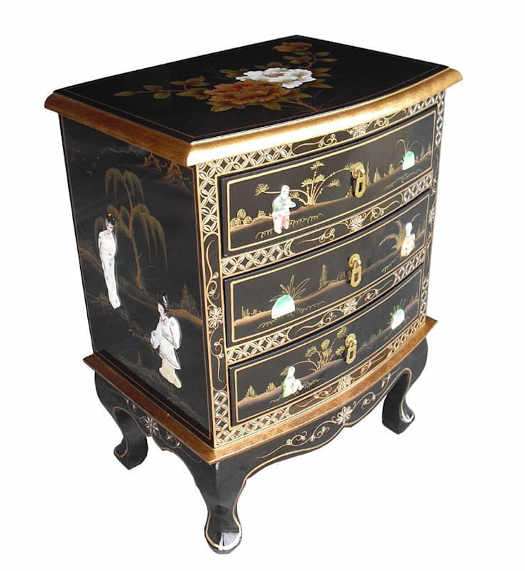 Chinese Lacquer Chest:  Living room by Asia Dragon