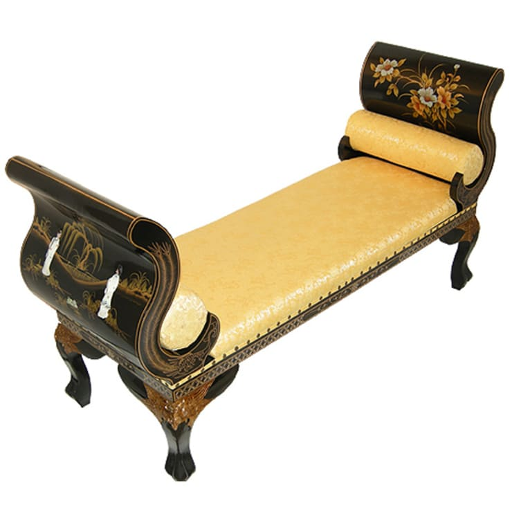Chinese Lacquer Bench:  Living room by Asia Dragon