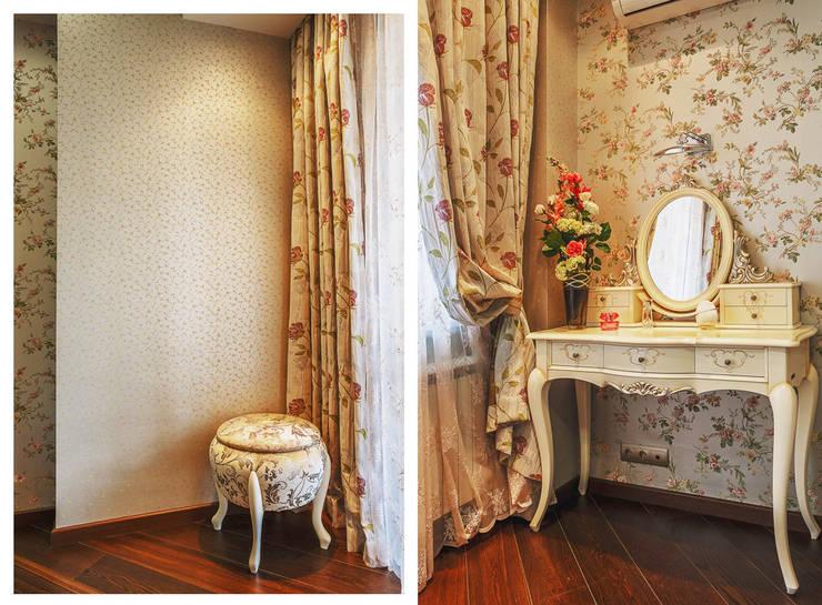 Туалетный столик и пуфик. : Спальная комната  в . Автор – Ольга Макарова (Экодизайн) ,