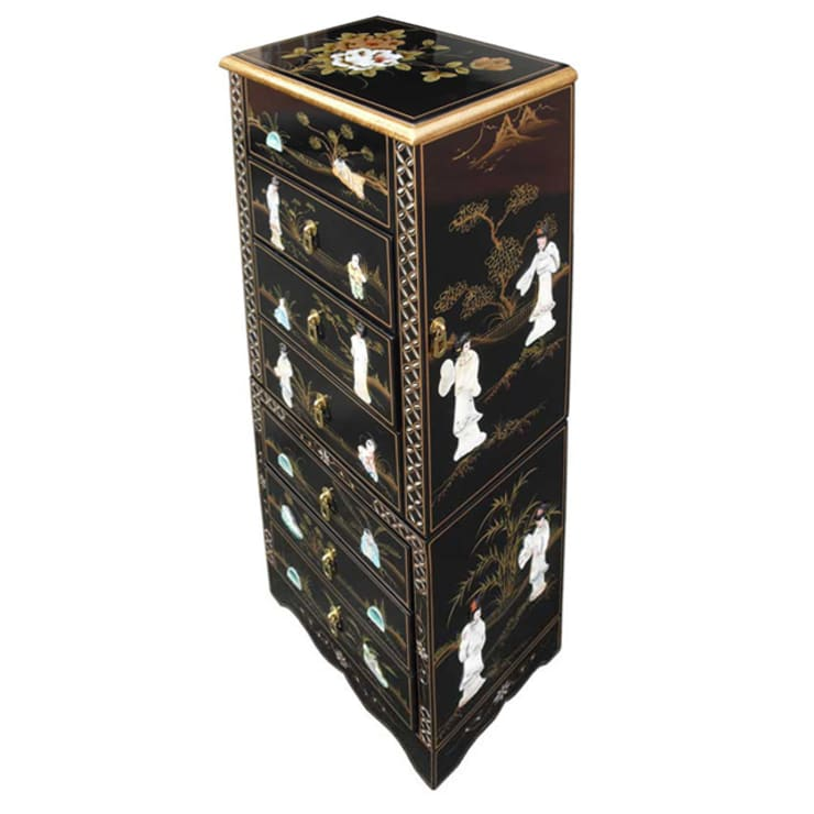 Chinese Lacquer Jewellery Armoire:  Bedroom by Asia Dragon