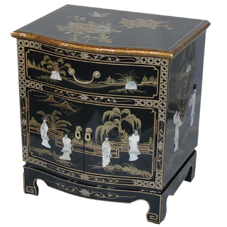 Chinese Lacquer Bow Cabinet:  Living room by Asia Dragon