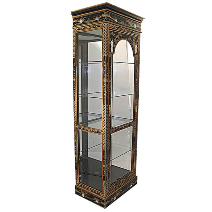 Chinese Lacquer Display Cabinet:  Living room by Asia Dragon