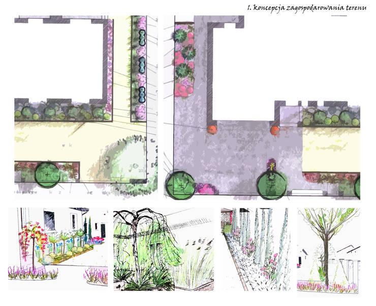 koncepcja zagospodarowania ogrodu: styl , w kategorii  zaprojektowany przez greenin
