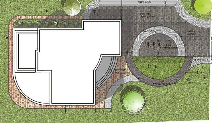 projekt nawierzchni: styl , w kategorii  zaprojektowany przez greenin