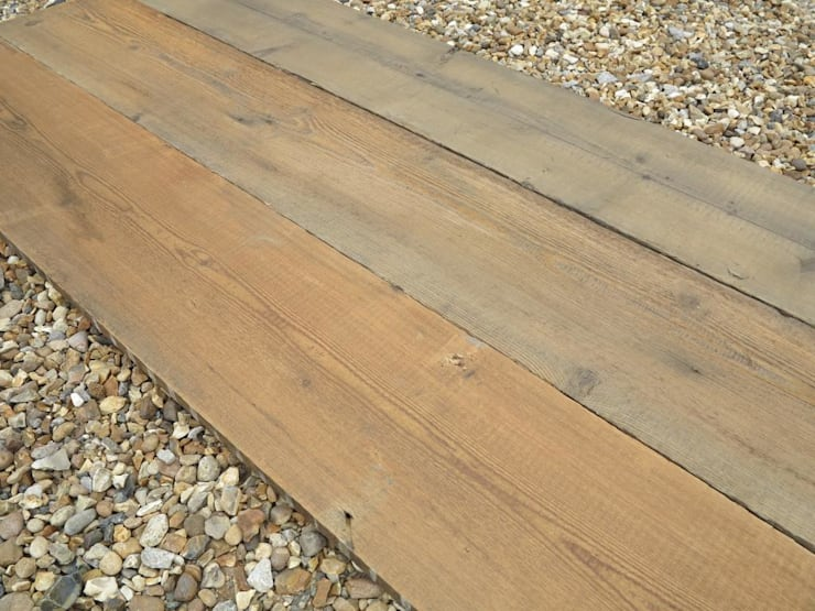 Lovely Salvaged Pine Floorboards :  Bathroom by UK Architectural Antiques