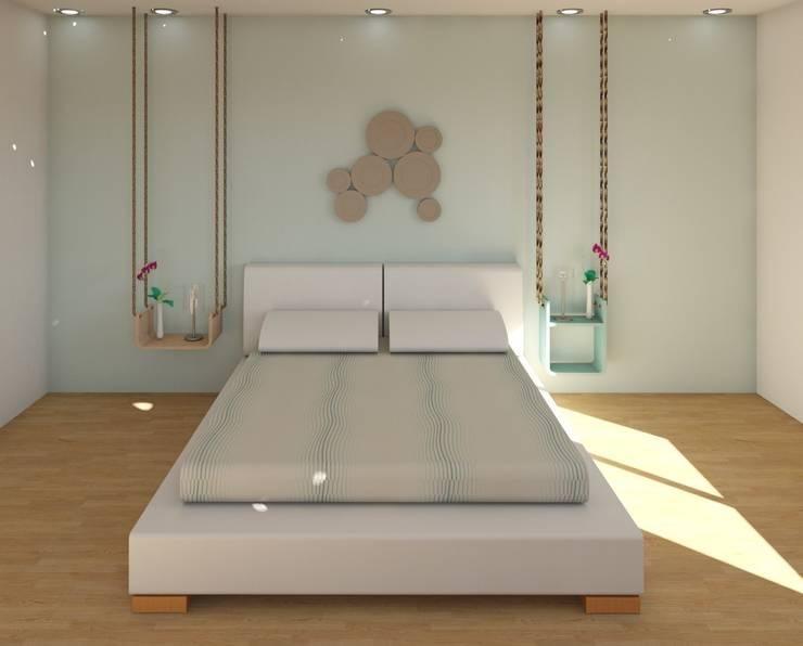 scandinavische Slaapkamer door MIMESIS INTERIORISMO SL
