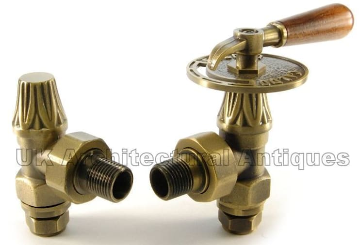 Abbey Throttle Manual Valves for Cast Iron Radiators :  Bathroom by UK Architectural Antiques