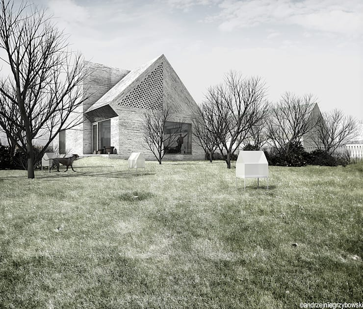 Dom w krajobrazie kujawsko-pomorskim – projekt konkursowy: styl minimalistyczne, w kategorii Domy zaprojektowany przez RTP Consulting Sp. z o.o.