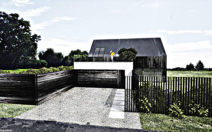 dom podcieniowy na granicy Żuław i Kaszub: styl , w kategorii Domy zaprojektowany przez RTP Consulting Sp. z o.o.