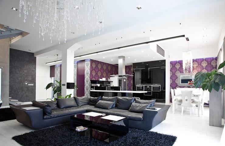 Glamour: styl , w kategorii Salon zaprojektowany przez KLIFF DESIGN,