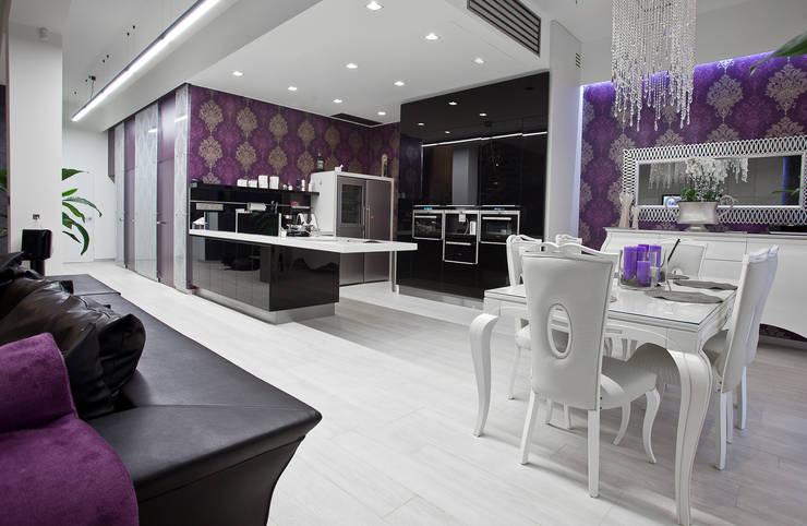 Glamour: styl , w kategorii Jadalnia zaprojektowany przez KLIFF DESIGN,