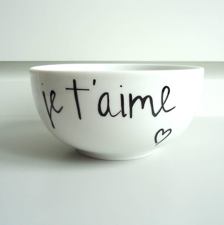 je t'aime: styl , w kategorii  zaprojektowany przez My Mug Company,Skandynawski