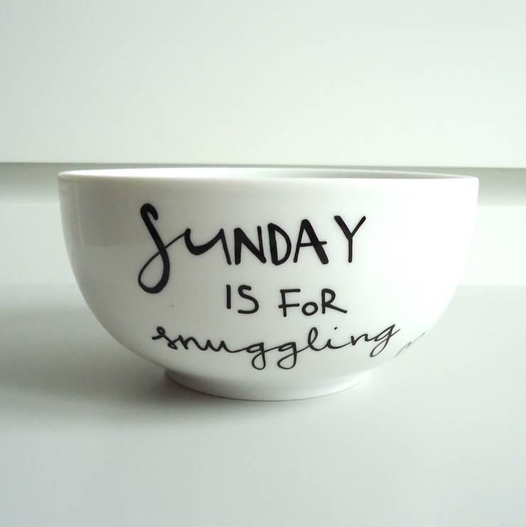 SUNDAY is for snuggling: styl , w kategorii  zaprojektowany przez My Mug Company,Skandynawski