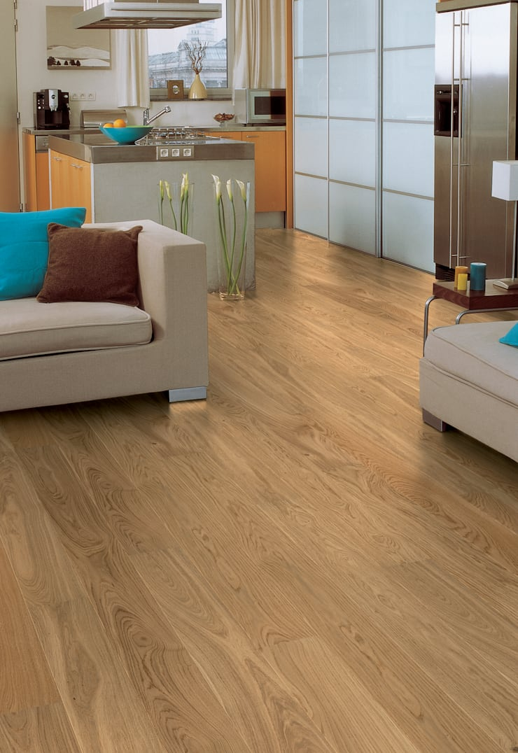 Natural Heritage Oak Satin:  Walls & flooring by Quick-Step