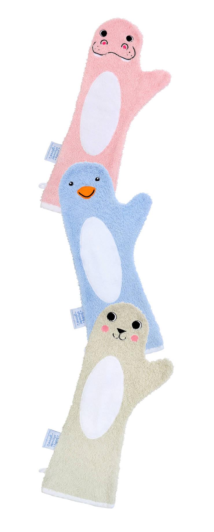 Baby Shower Glove™; beter grip op je baby tijdens het douchen:   door Invented 4 Kids™