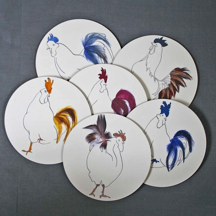 Chicken table mats:  Dining room by Cluck Cluck!