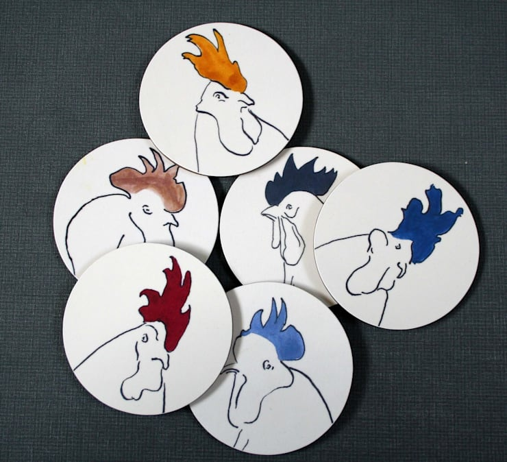Chicken Coasters:  Dining room by Cluck Cluck!