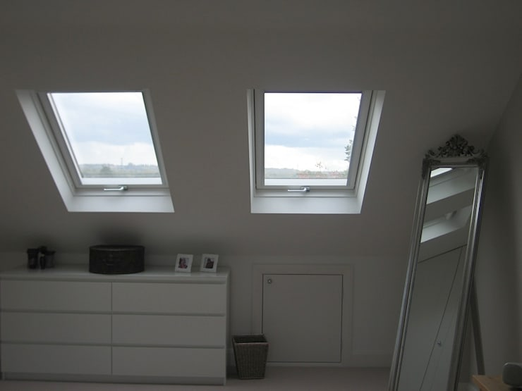 Dressed Hip to Gable Loft Conversion :  Windows & doors  by A1 Lofts and Extensions