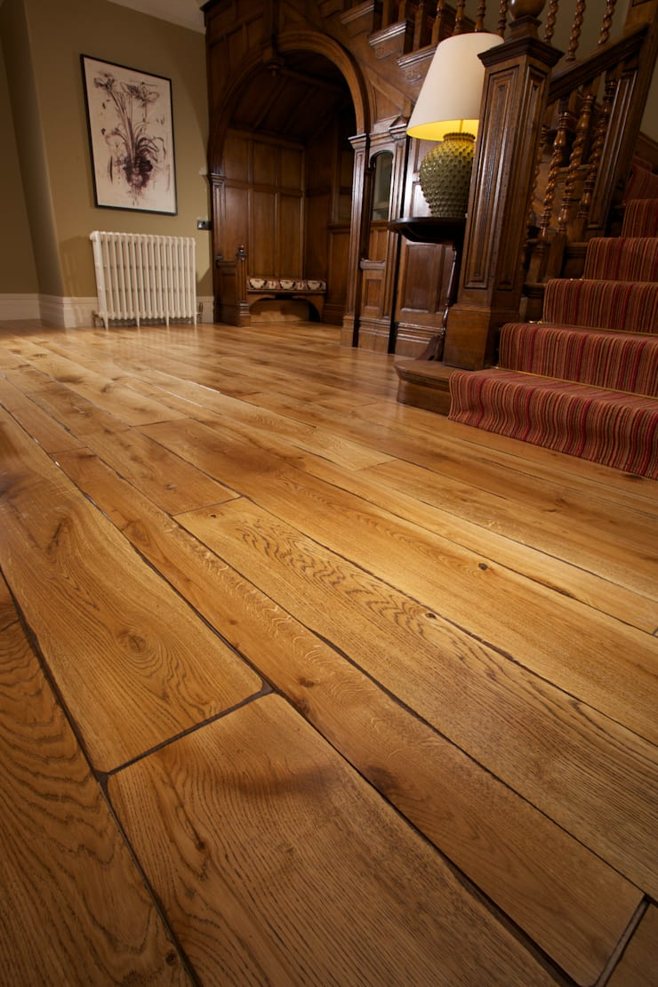 FSC Handfinished engineered Oak planks:  Walls & flooring by Woodenfloors.uk.com