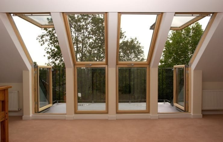 Velux Cabrio balcony :  Balconies, verandas & terraces  by A1 Lofts and Extensions