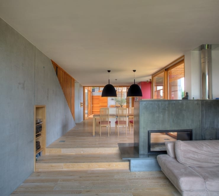 Räumliche Schichtung:  Wohnzimmer von kleboth lindinger dollnig