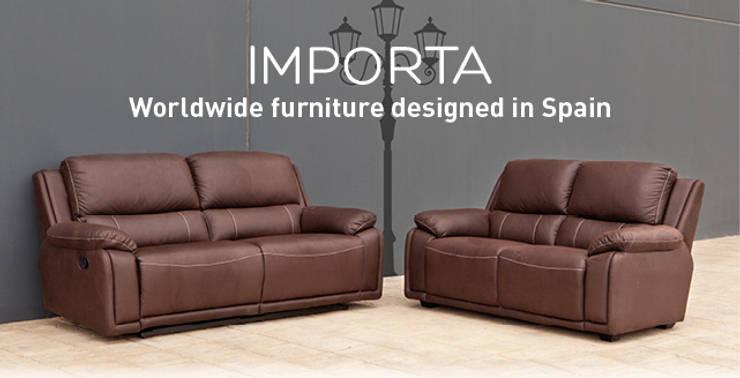 Cojunto de sofá Mod. Marco: Salones de estilo  de Importa Home Desing