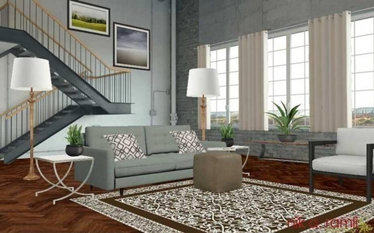 Loft Living Room:  Living room by Nik A Ramli Interior Design